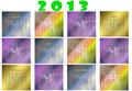 Calendar for 2013 new year