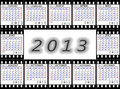 A calendar on 2013 is English