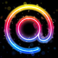 Internet Symbol Rainbow Lights  Glitter with Sparkles