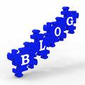 Blog Letters Means Internet Blogging