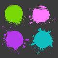 Set of color splash
