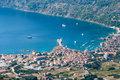 aerial view to the komiza town in Croatia