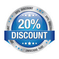 20 discount blue silver button
