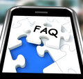FAQ On Smartphone Showing Website's Questions