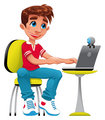 Boy and computer.