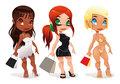 Three kind of ladies.