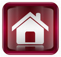 home icon dark red, isolated on white background