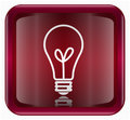 lightbulb Icon dark red, isolated on white background