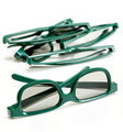 Pair of 3-d glasses for movies cinema