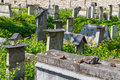 The Remuh Cemetery in Krakow, Poland, is a Jewish cemetery estab