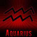 Aquqrius symbol with a red background
