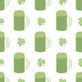 Seamless Shamrocks and Green Beer