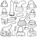Women's handbags. Hand drawn Vector Set 1