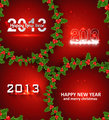 Happy new year 2013 circle red colorful creative background vect