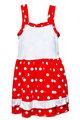Small red polka dot dress for girls on white