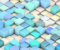 abstract 3d cubes backdrop in yellow and blue