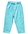 Striped blue summer pants for boys
