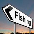 Fishing concept.