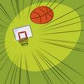 Basketball Into The Net