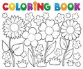 Coloring book with flower theme 2