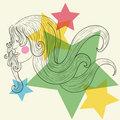 Woman profile sketch