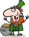 happy Leprechaun cartoon illustration