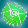 Email Envelope Shows Communication Worldwide Through WWW