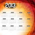 2013 calendar colorful wave vector design illustration