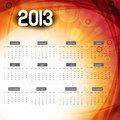 2013 calendar colorful wave vector design illustration