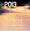 2013 calendar bright colorful vector design illustration