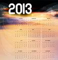 2013 calendar bright colorful vector design illustration
