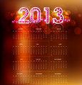 2013 calendar bright new year colorful vector design