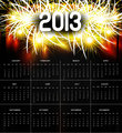 2013 calendar black bright celebration colorful vector design