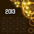 2013 calendar golden bright celebration colorful vector
