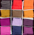 box of colored clothing
