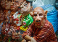 Seller latex masks for Halloween on open market
