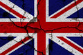 Union flag on a cracked wall