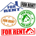 For rent stamps set