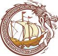 Dragon and Ship