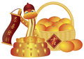 Chinese New Year Basket of Oranges and Snake