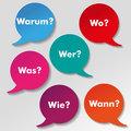 Colorful Questions Speech Paper Labels
