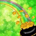 Pot of Gold Shamrock Blurred Background