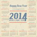 Vintage year 2014 calendar