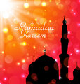 Celebration card for Ramadan Kareem