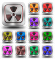 Radioactive aluminum glossy icons, crazy colors