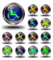 Accessibility glossy icons, crazy colors