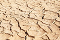 Dried up and cracked mud in dry waterhole