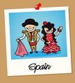 Spain travel polaroid people