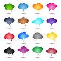 Glossy colored bubbles