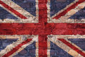 UK flag on brick background